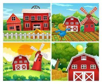 granjero zenon cuatro escenas de granjas la granja de zenon pinterest