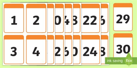 how much money can you make counting cards number digit cards 0 30 math numeracy digit card number