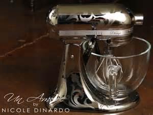 Designer Kitchen Aid Mixers Un Amore Custom Designs Chrome Etched Kitchenaid Mixer