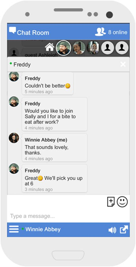 Live Chat Room Mobile - social chat widget for website chat software chatwee