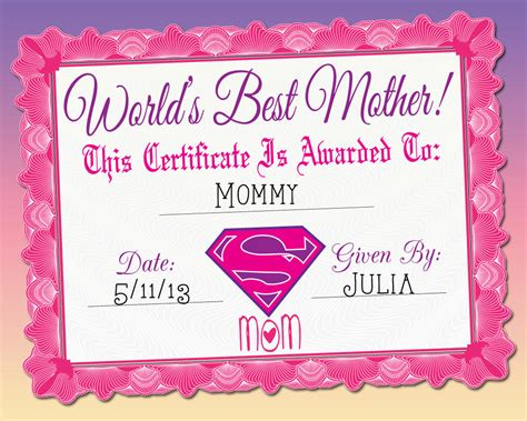 blank certificates for printing world s best mother certificate printable