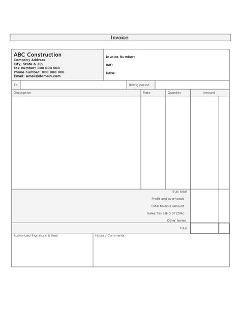 Construction Invoice Cover Letter Construction Forms 41 Free Templates In Pdf Word Excel