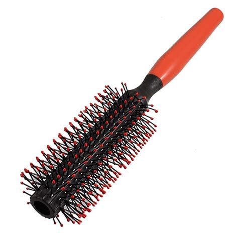 new curly brush for men new practical red plastic handle curly hair styling round