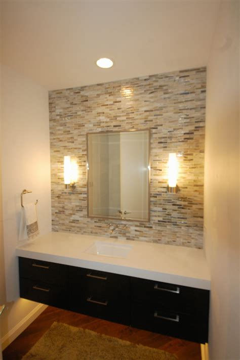 mirror tiles for bathroom walls what is the wall tile behind the mirror i love it
