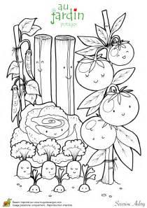 coloriage d 233 couverte le jardin potager hugolescargot