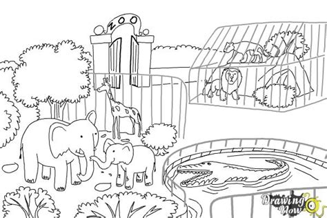 Drawing Zoo by Zoo Drawing Www Imgkid The Image Kid Has It