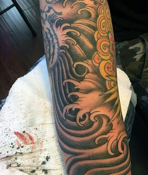 ocean tattoos for men 60 wave designs for an of manly ideas
