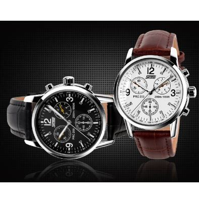 Jam Tangan Quicksilver Crono Leather Jam Tangan Pria Diesel Gc 1 skmei jam tangan analog pria leather 9070cl black jakartanotebook