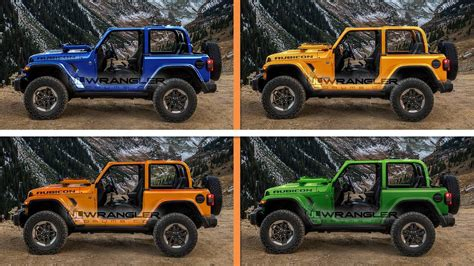 jeep color options leaked dealer info shows 2018 jeep wrangler paint options