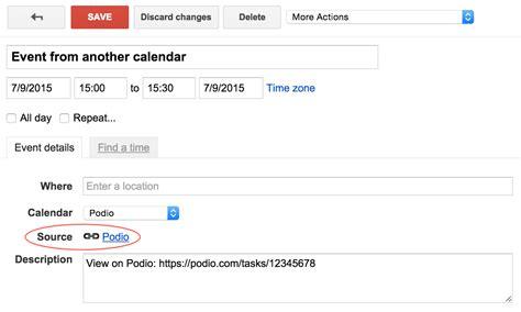 Calendar App Script Apps Script Calendar Event Source Title And Url