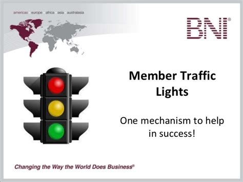 members lights bni member and chapter traffic lights