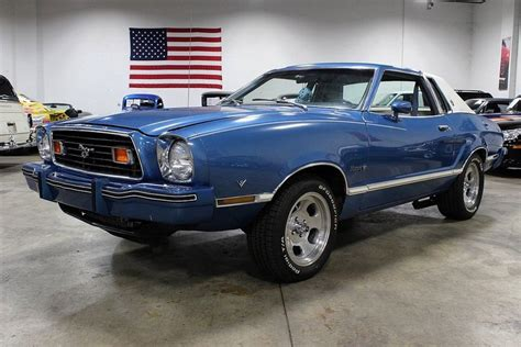 ford mustang 1976 silver blue metallic 1976 ford mustang ii for sale mcg