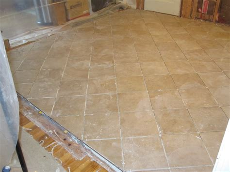 Bathroom Floor Underlayment For Tile by Time Lapse Ceramic Tile Installation With Schluter Ditra