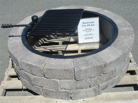 firepit blocks metal ring pit fireplace design ideas