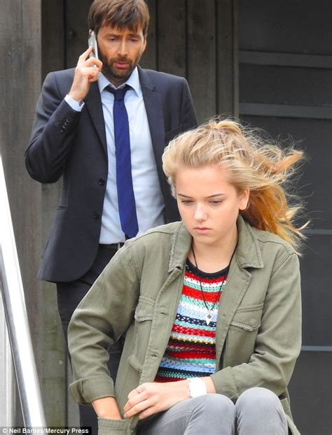 david tennant daughter broadchurch s david tennant shares moment with his on