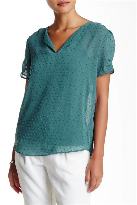Sale 013135rb Sheer Dots Top Free Inner daniel rainn clip dot blouse nordstrom rack