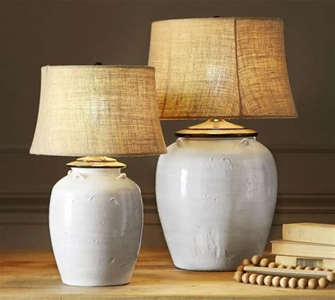 Pottery Barn Table Linens Courtney Ceramic Table Lamp Base Ivory Pottery Barn