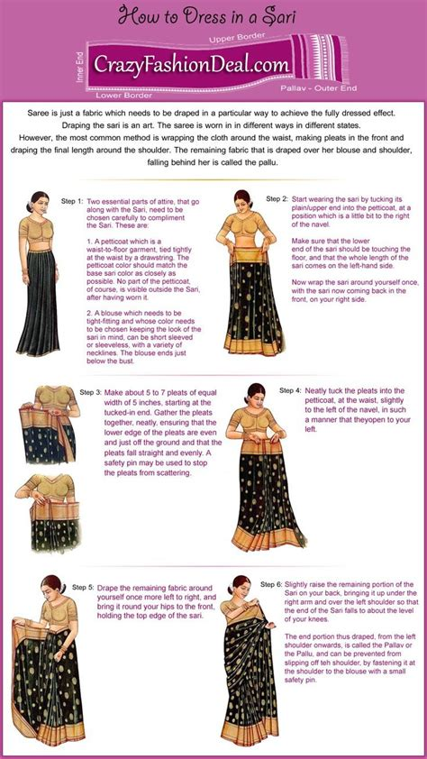 8 Simple Steps To Tie A Sari by 81 Best Images About Wearable Clothing Design Construction