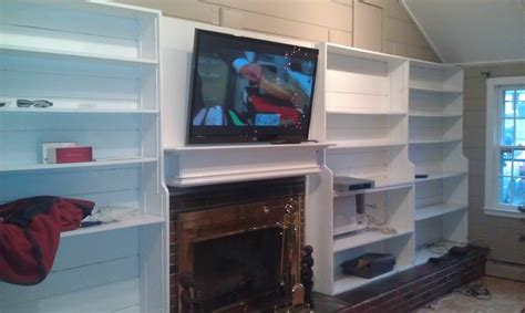 bloomfield ct lg tv fireplace with wires outside