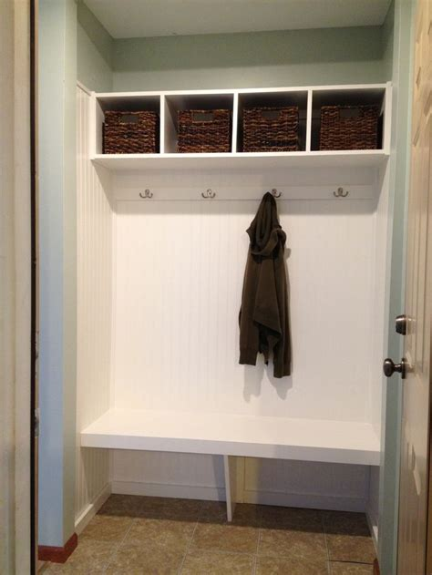Closet Turned Mudroom by Mini Mudroom With Bench Closet Turned Mini Mudroom