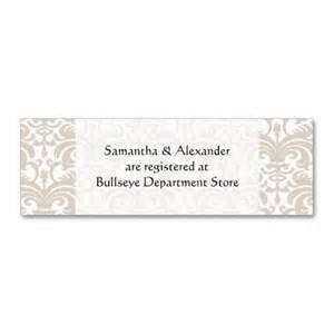 create your own wedding registry personalized wedding gift registry cards insert