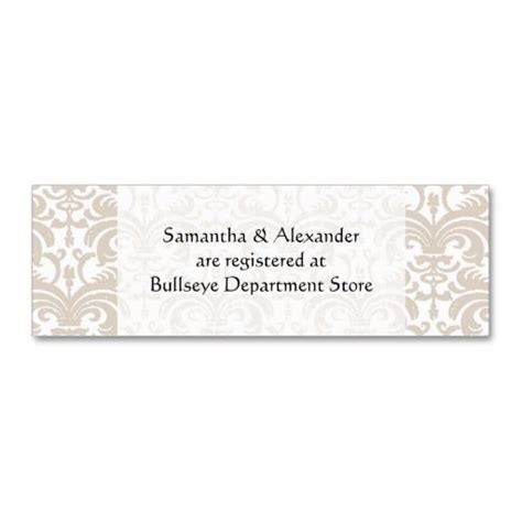 free customizable registry card template personalized wedding gift registry cards insert