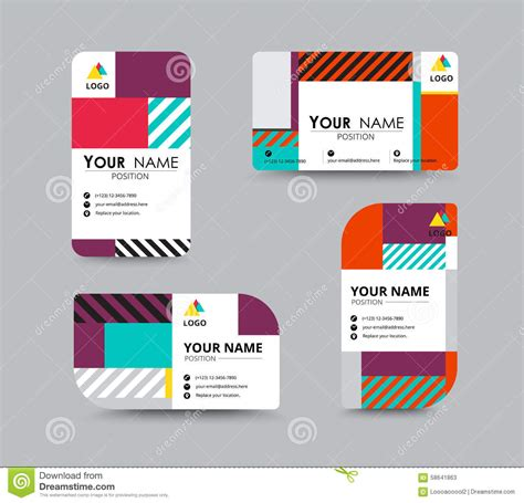 design online name modern business card and name card design stock vector