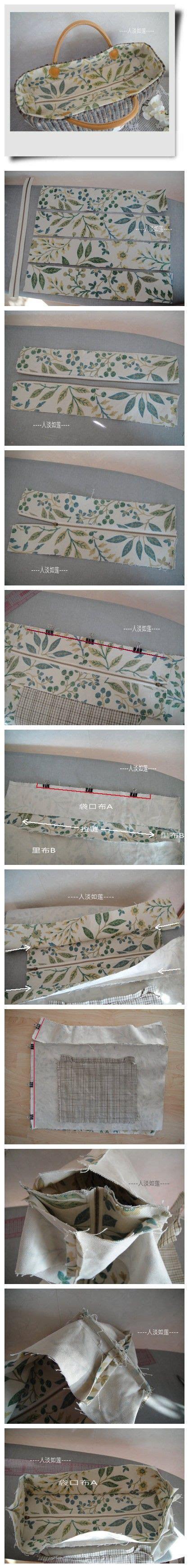 tote bag pattern with recessed zipper recessed zipper tutorial duitang bag ideas