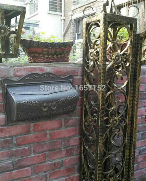 Iron Mailboxes Decorative Cast by Shop Popular Decorative Mailbox Post From China Aliexpress