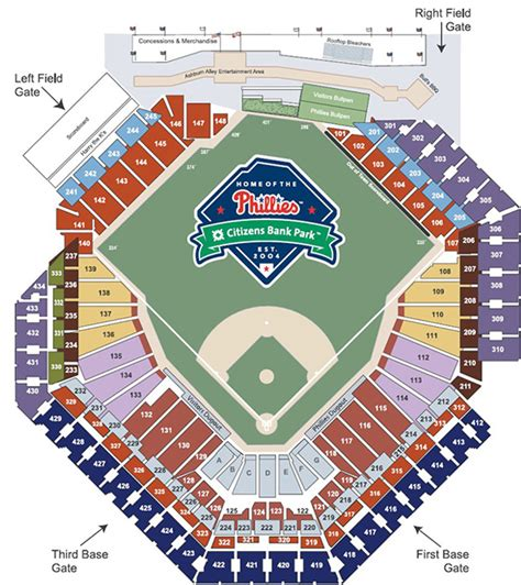 citizens bank park tickets phillies seating chart citizens bank park seating chart