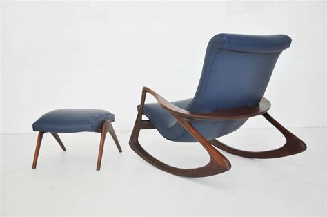 ottoman for rocking chair vladimir kagan rocking chair with ottoman for sale at 1stdibs
