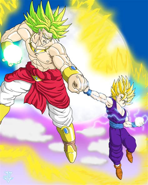 Kaos Z Saiyan Broli gohan vs broly by jp v on deviantart