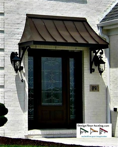 entry door awnings door awnings the metal juliet awning over front door in zionsvillein bronze 4 quot front