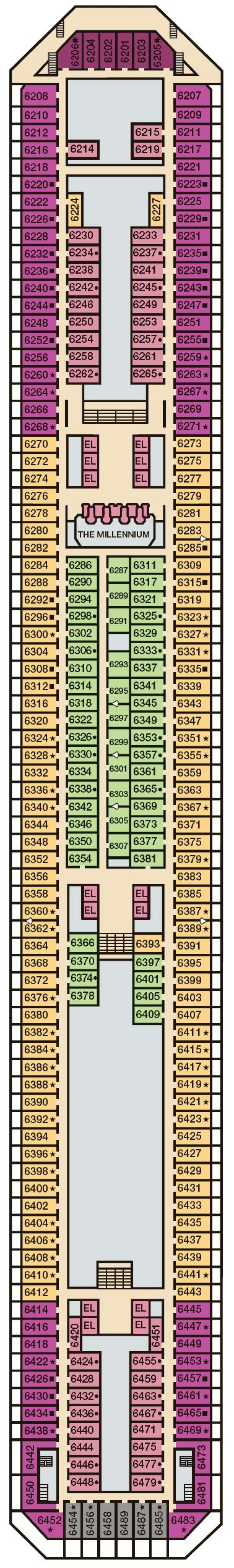 carnival freedom floor plan balcony cabin 6452 on carnival freedom category q9