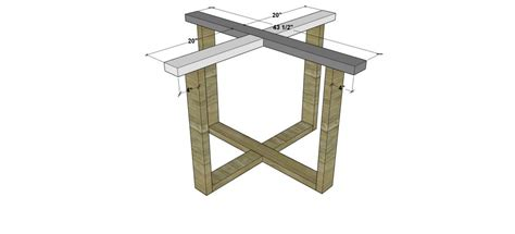 diy table base free diy furniture plans how to build an indoor outdoor