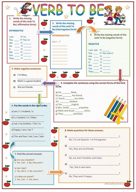 printable worksheets verb to be the verb to be worksheet free esl printable worksheets