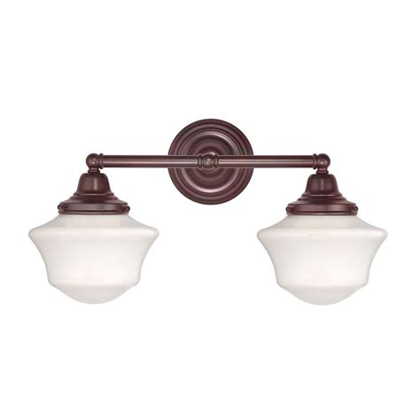 school house lighting schoolhouse bathroom light with two lights in bronze finish wc2 220 gc6