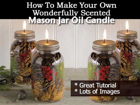 make your own wonderfully scented jar candle