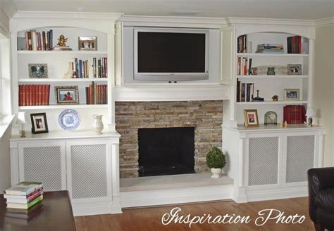 Built In Cupboards Next To Fireplace by Built In Cabinets Next To Fireplace Crown Moulding