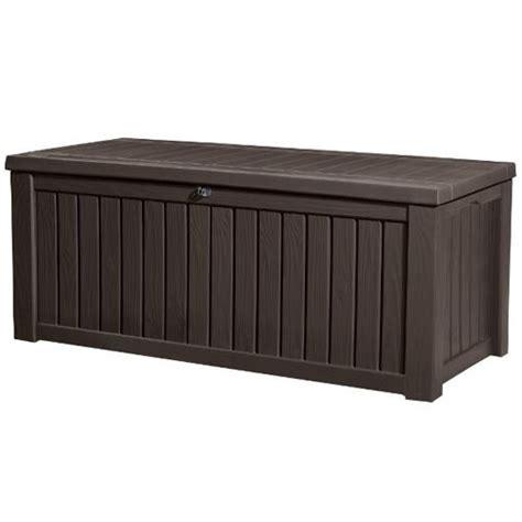 keter plastic garden bench box with storage keter rockwood outdoor garden storage box bench buy