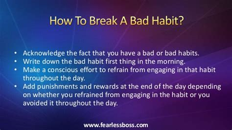 how to a bad how to bad habits and create habits