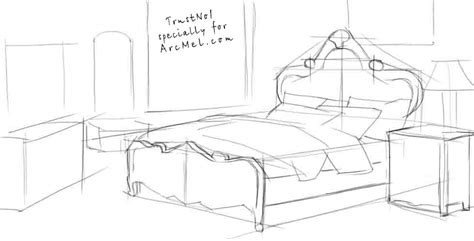 how to draw a bed how to draw a bed step by step arcmel com