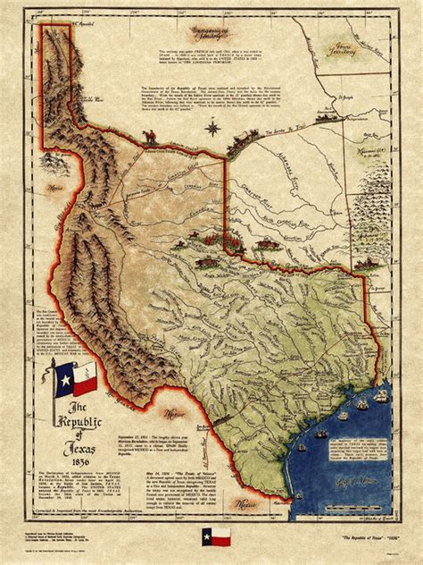 republic of texas map 1836 texas historical map republic of texas 1836