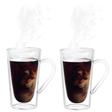 bed bath and beyond coffee mugs luigi bormioli thermic borosilicate double wall coffee tea