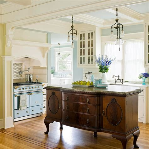 antique kitchen islands kitchen island designs we love antique buffet kitchens
