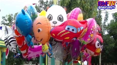 balon karakter tiup upin ipin balon mainan anak kecil balon karakter masha boboiboy