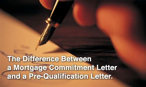 Commitment Letter Refinance Mortgage Commitment Letter Vs A Pre Qualification Letter