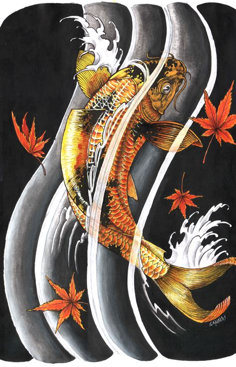 japanese koi fish tattoo designs koi fish design by sandersk on deviantart