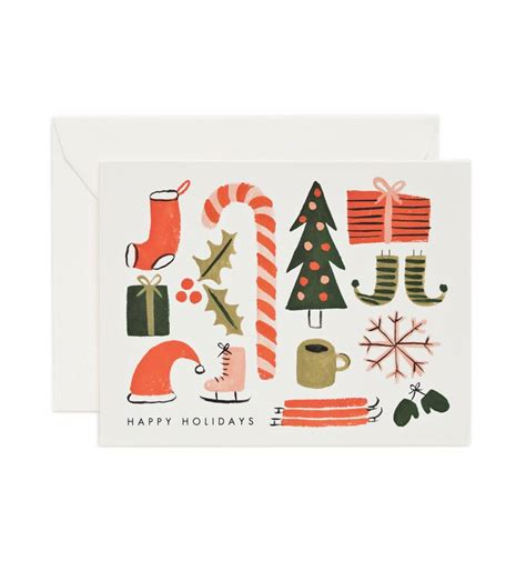 favorite things greeting card by rifle paper co made in usa