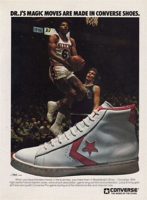 dr j basketball shoes vintage ad dr j for converse basketball 1977 dos a 241 os